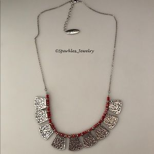 Plunder Jewelry - Plunder MELODY Necklace Silver Geometric Shapes